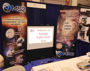 MS2's booth at the 2015 TRB Conference