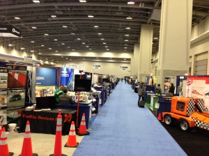 The exhibit hall at the 2015 TRB conference